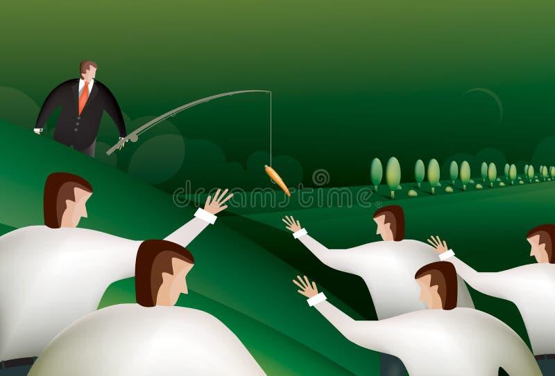 Рыбная ловля бизнесмена иллюстрация вектора