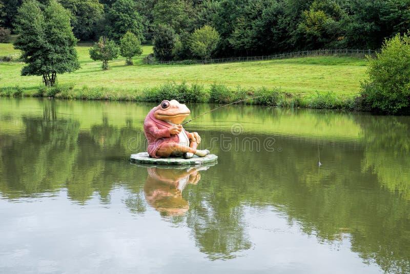 Рыбная ловля лягушки стоковая фотография rf