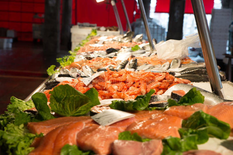 Рыбный базар в Венеции, Италии стоковое изображение rf