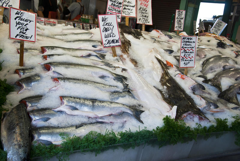 рыбный базар стоковая фотография