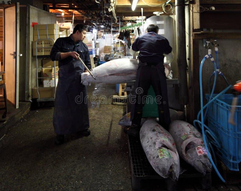 Рыбный базар Tsukiji стоковые фотографии rf