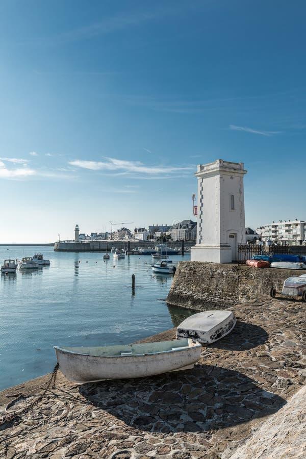 Рыбный порт Свят-Gilles Croix de Соперничать, Франции стоковая фотография