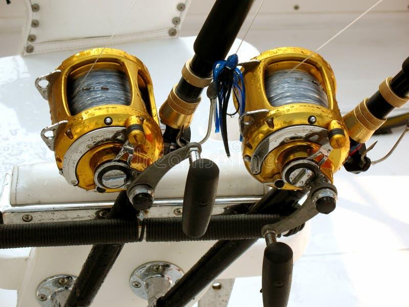 рыболовство оборудования оффшорное стоковые изображения
