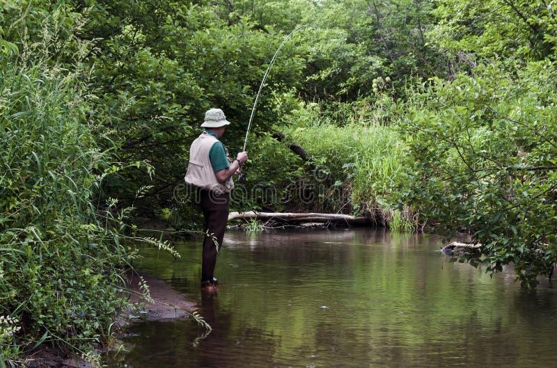 Рыболовство потока стоковые изображения