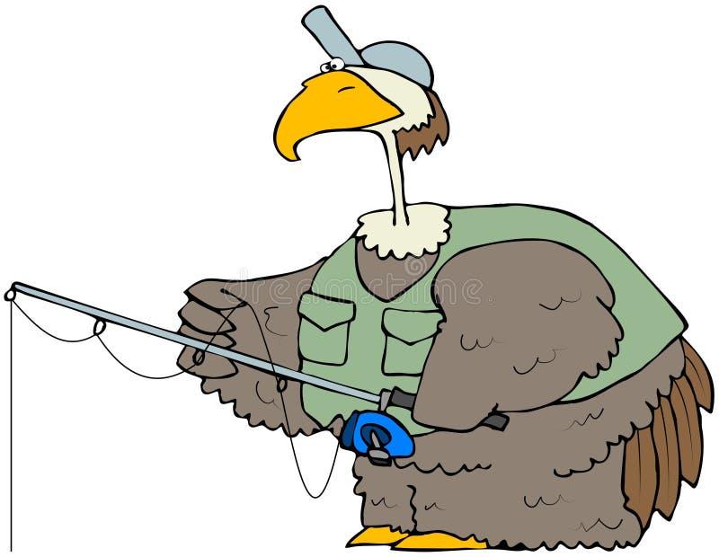 рыболовство птицы иллюстрация вектора
