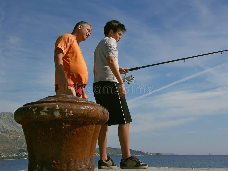 рыболовство семьи стоковое фото rf