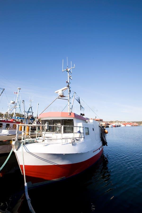 рыболовство стыковки шлюпок стоковое фото