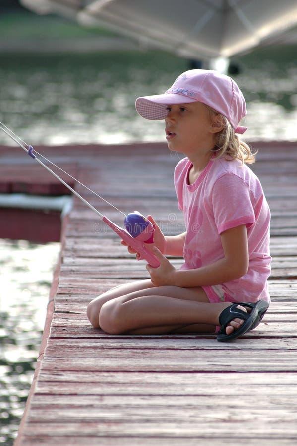 рыболовство стыковки  стоковое изображение