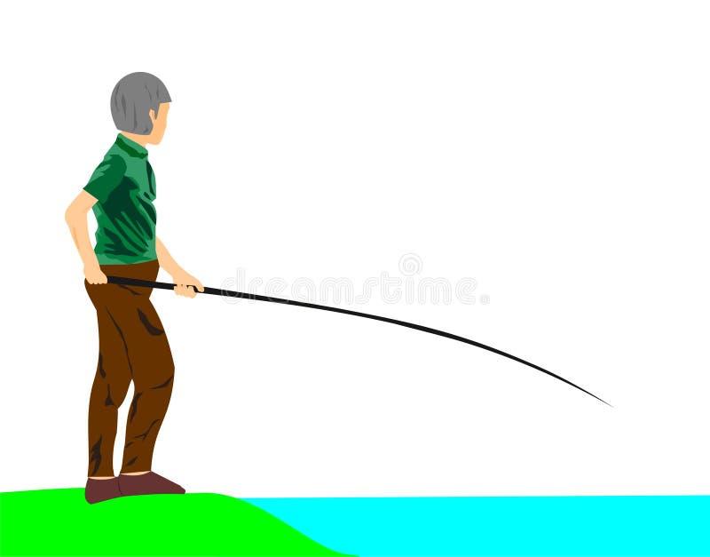 Рыболовство человека. стоковое фото