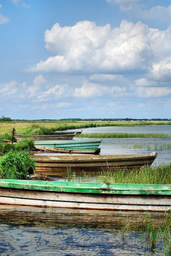 рыболовство шлюпки деревянное стоковая фотография rf