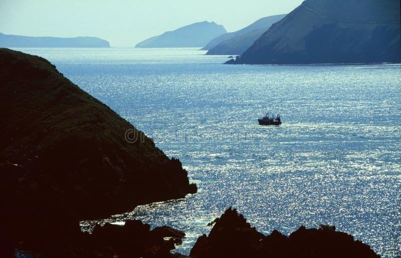 рыболовство шлюпки залива Стоковые Фотографии RF