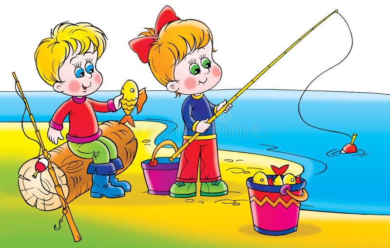 рыболовство иллюстрация штока
