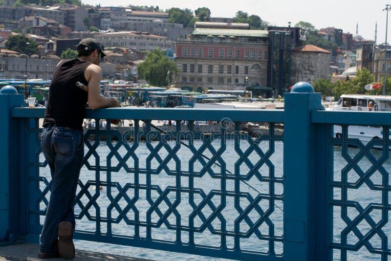 рыболовство istanbul стоковая фотография