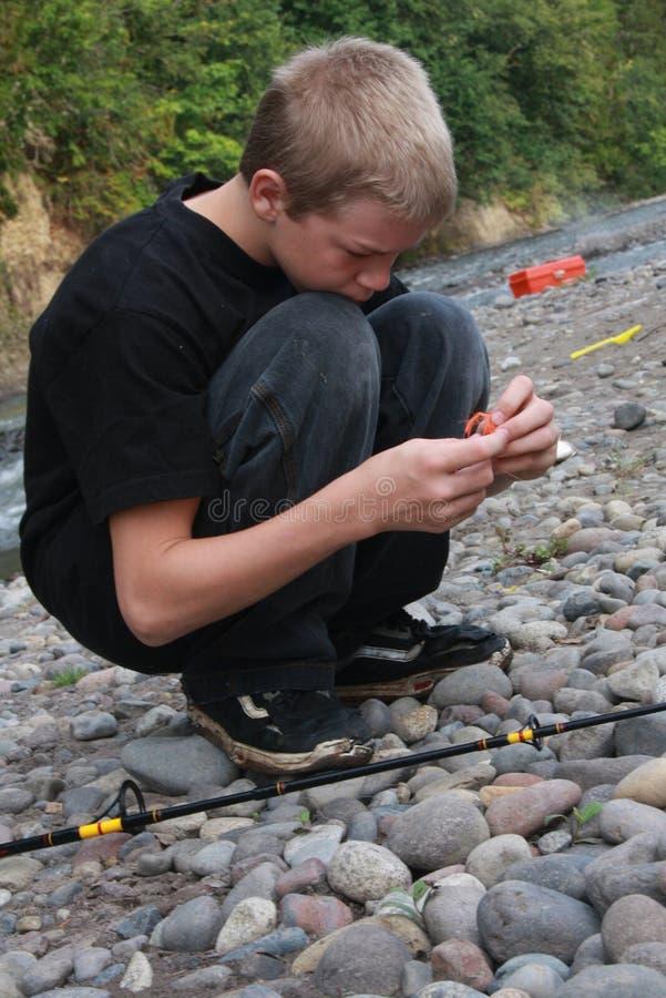 рыболовы молодые стоковое фото rf