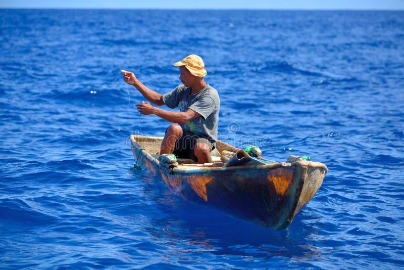 Рыболов в Dominicana стоковые изображения rf