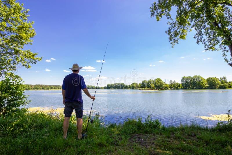 Рыболов стоковое фото rf