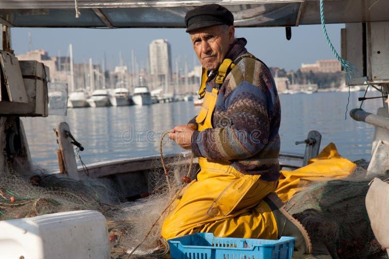 рыболов старый стоковые фото