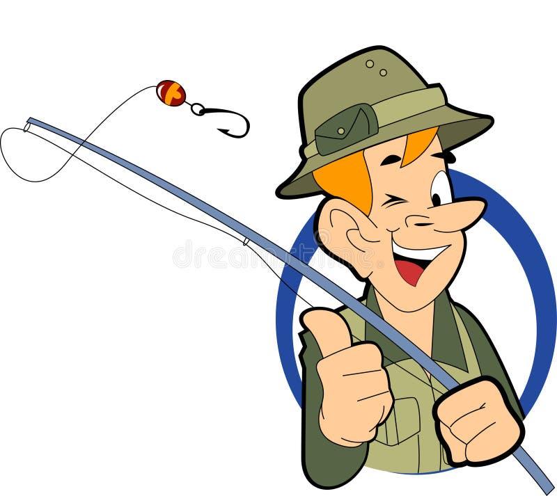 рыболов иллюстрация вектора