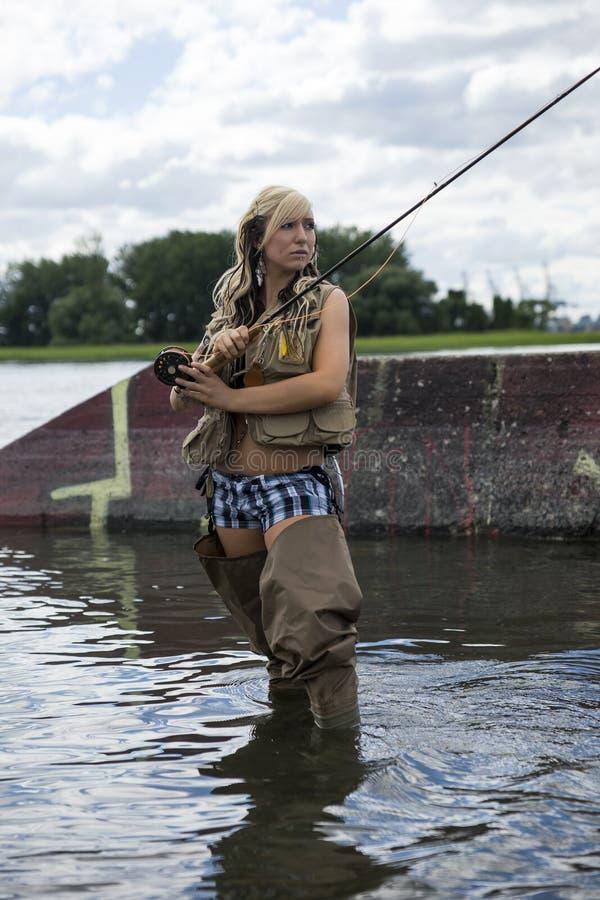 Рыболовство мухы стоковая фотография