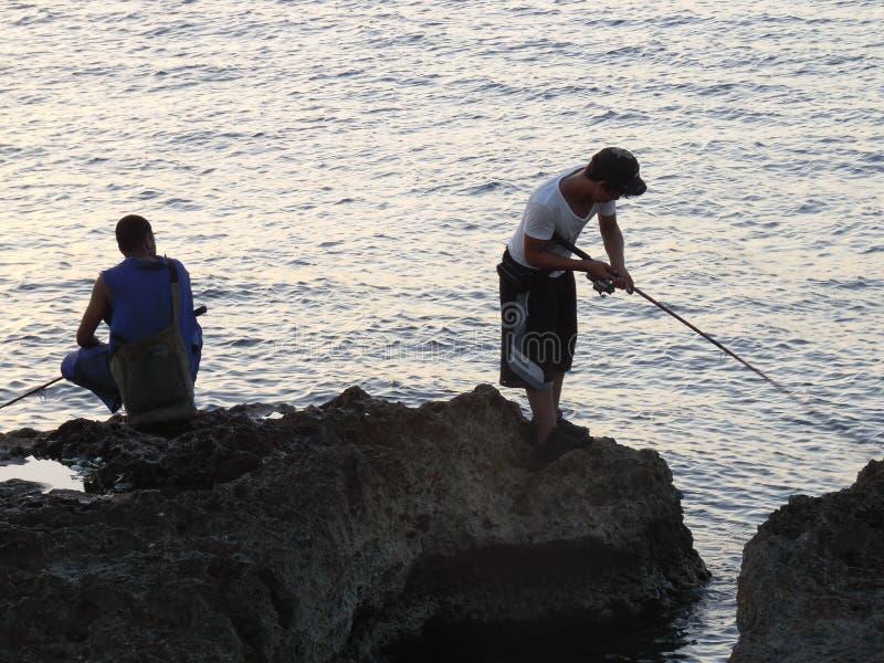 Рыболовы в Гаване 2 стоковые фото