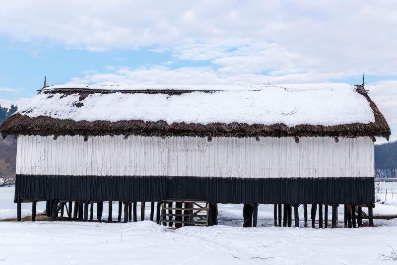 Рыболовы расквартировывают в Румынии стоковое изображение rf