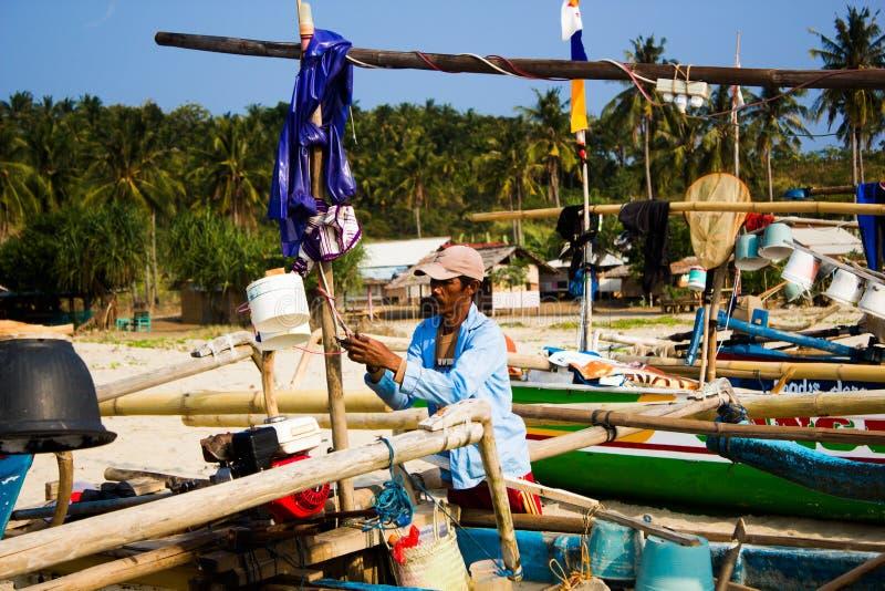 рыболовы традиционные стоковые изображения