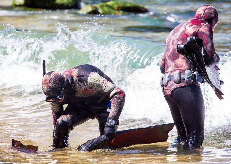 Рыболов копья стоковое фото rf