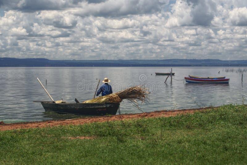 Рыболов, Парагвай стоковая фотография