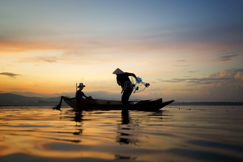 рыболов Таиланд стоковая фотография