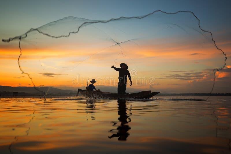 рыболов Таиланд стоковые фотографии rf