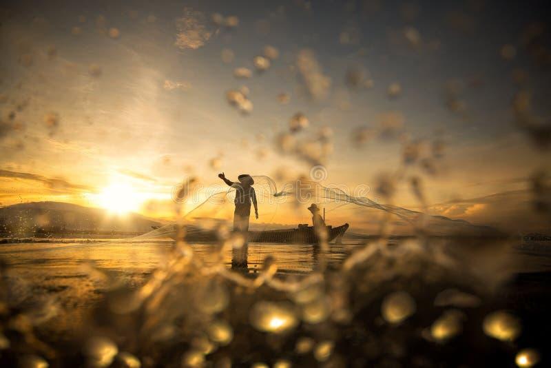 рыболов Таиланд стоковая фотография rf