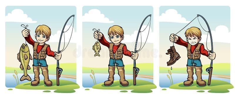 Рыболов иллюстрация штока