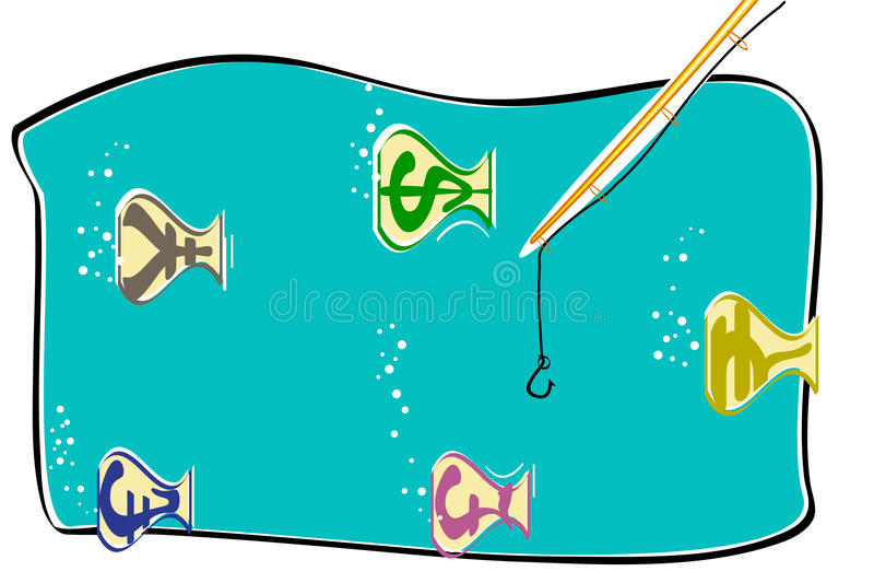 рыбы валюты иллюстрация вектора