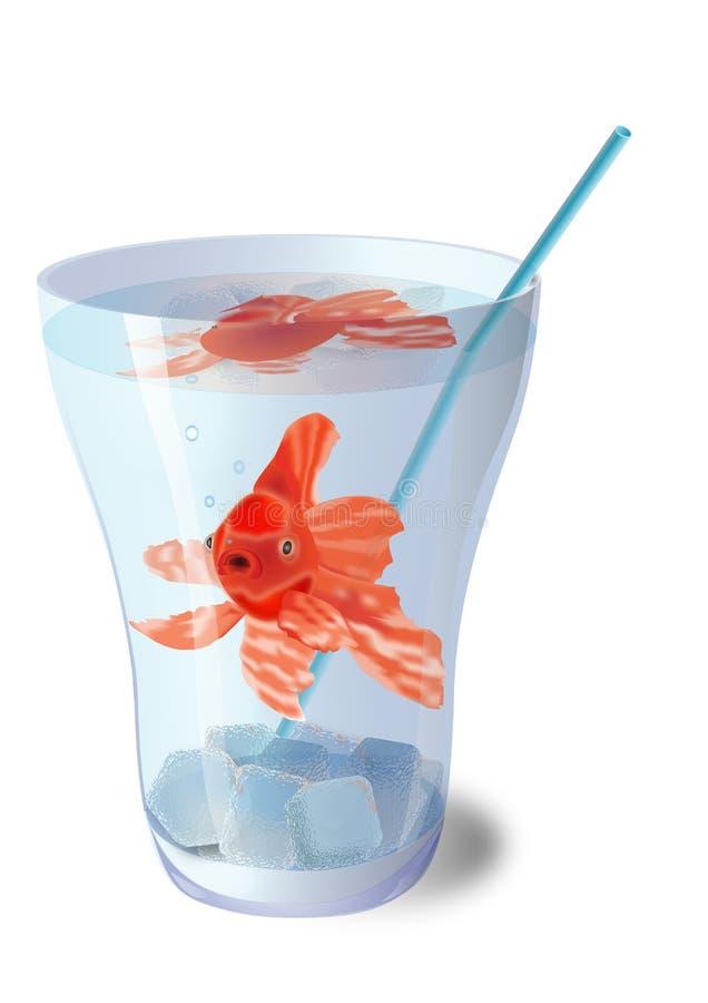 Download Рыбы в стекле. стоковое изображение. изображение насчитывающей  - 37931119