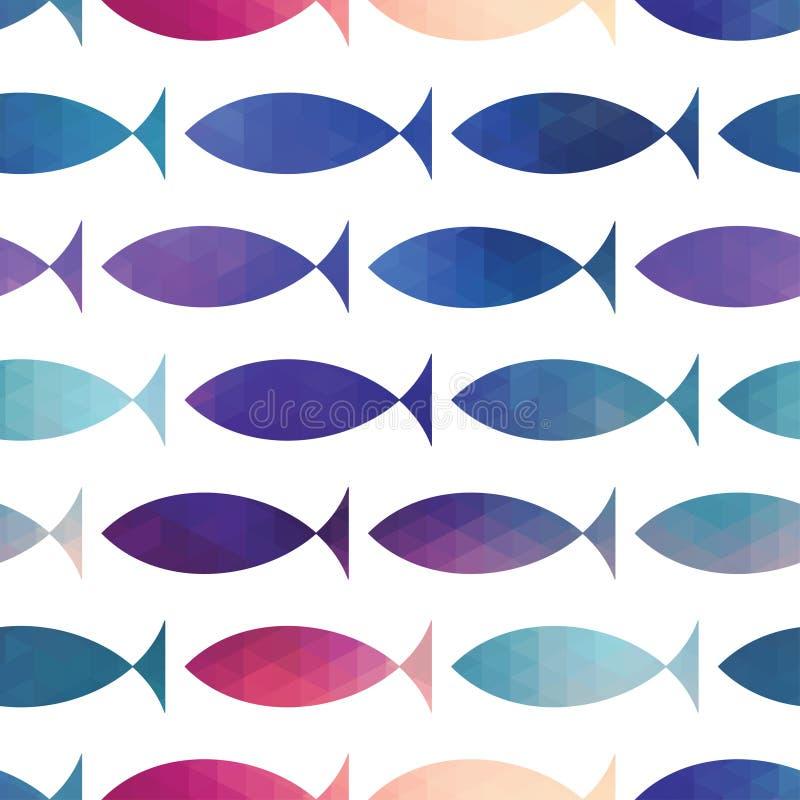 рыбы делают по образцу безшовное вектор Рыбы треугольника вектора Абстрактный fi бесплатная иллюстрация