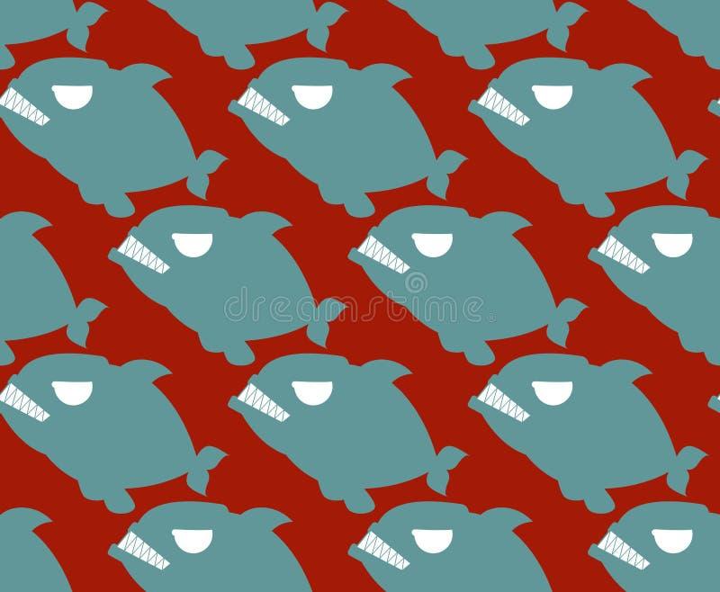рыбы делают по образцу безшовное Backg рыб военноморского Piranha захватническое бесплатная иллюстрация