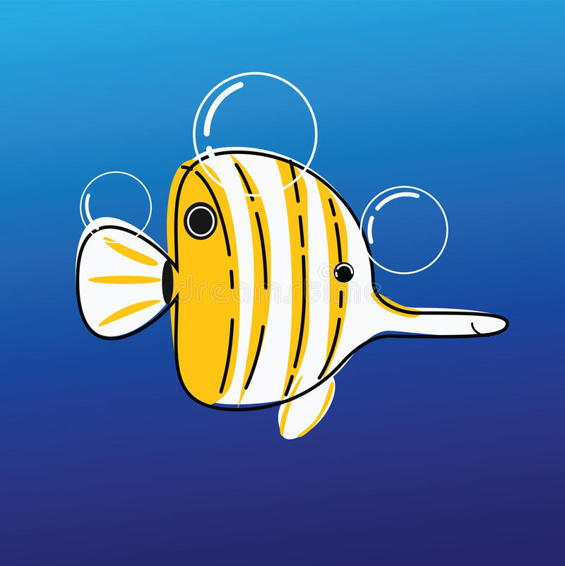 Рыбы коралла иллюстрация штока