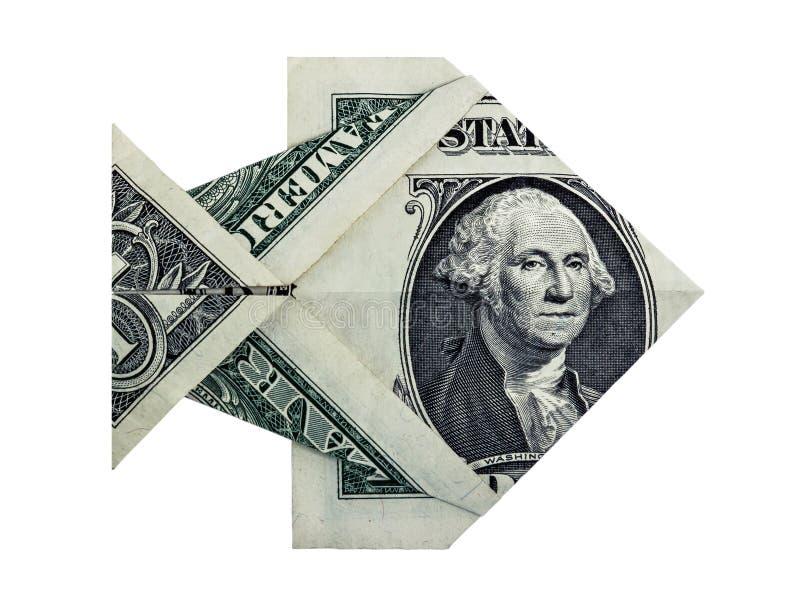 Рыбы доллара Origami стоковые изображения rf
