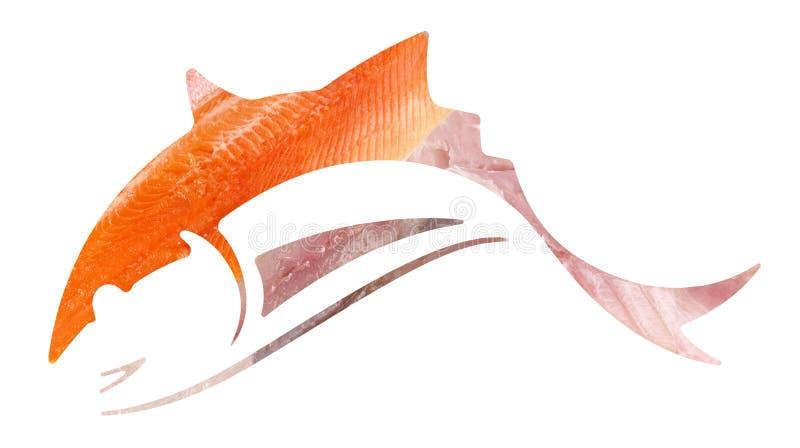 Рыбы - силуэт логотипа стоковая фотография rf