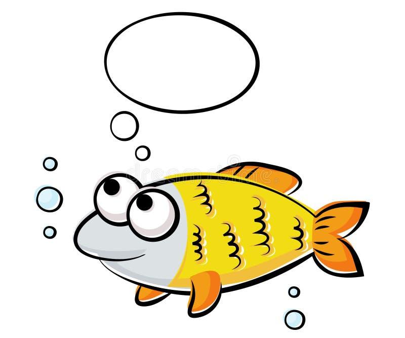 рыбы смешные иллюстрация вектора