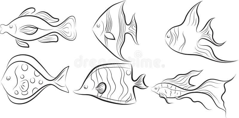 рыбы собрания бесплатная иллюстрация