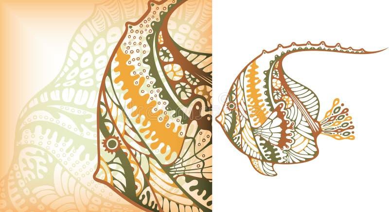 рыбы тропические иллюстрация штока