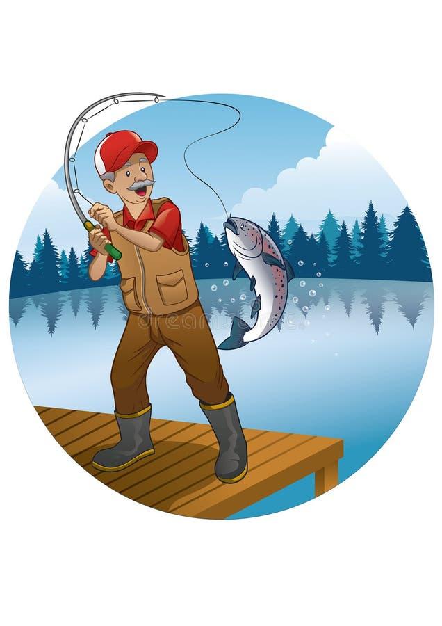 картинка рыбак и большая рыбка