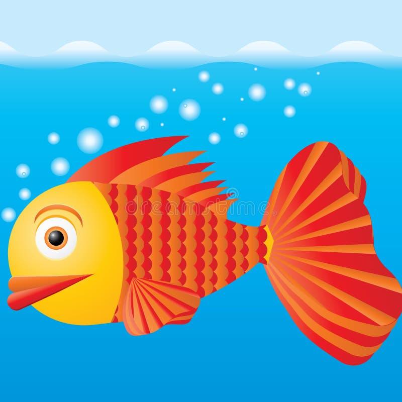 рыбы шаржа иллюстрация вектора