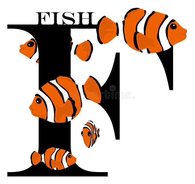 рыбы f иллюстрация вектора