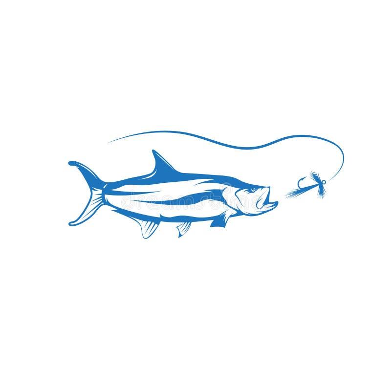 Рыбы Tarpon и дизайн вектора прикормом иллюстрация штока