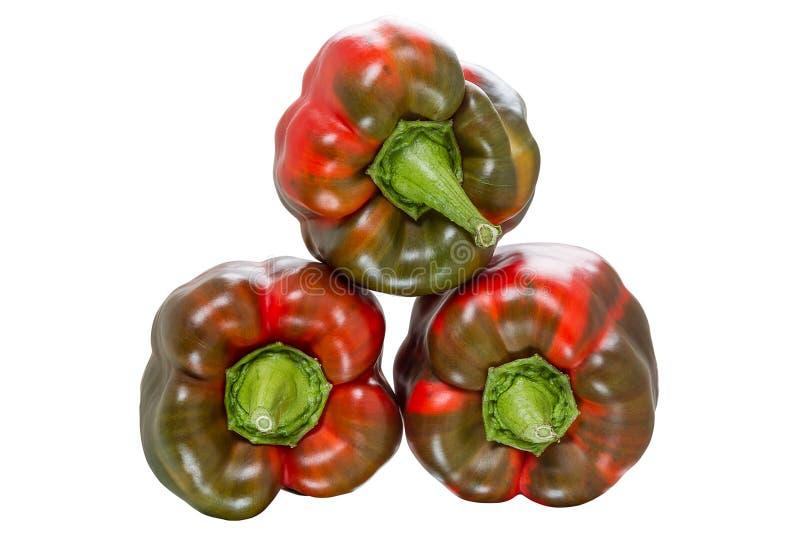 Рыжеватые сладостные перцы стоковое фото rf