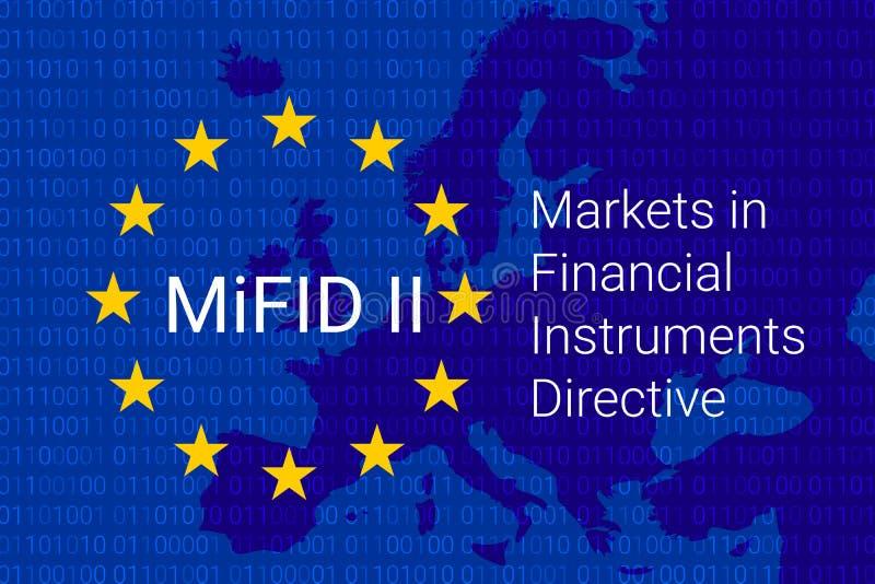 Рынки в директиве финансовых дочументов - MiFID II вектор иллюстрация штока