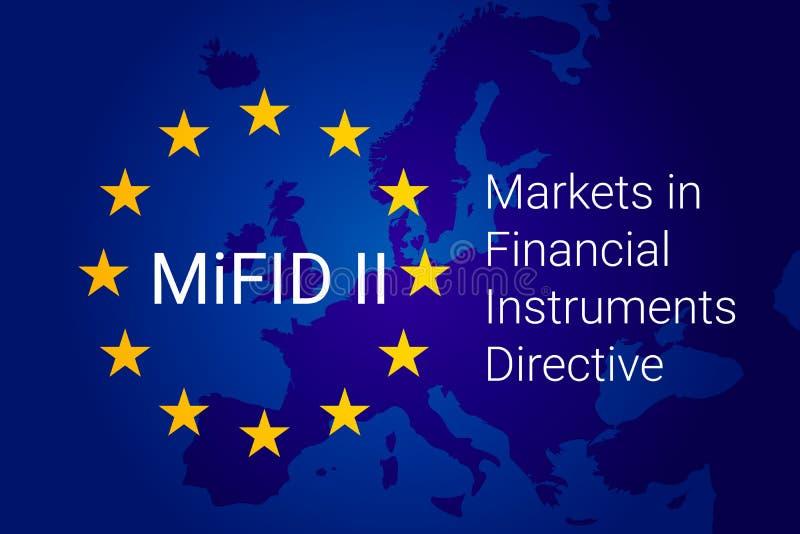 Рынки в директиве финансовых дочументов - MiFID II вектор иллюстрация вектора