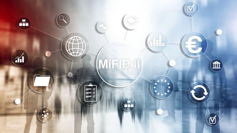 Рынки в директиве финансовых дочументов MiFID II Концепция предохранения от инвестора иллюстрация вектора